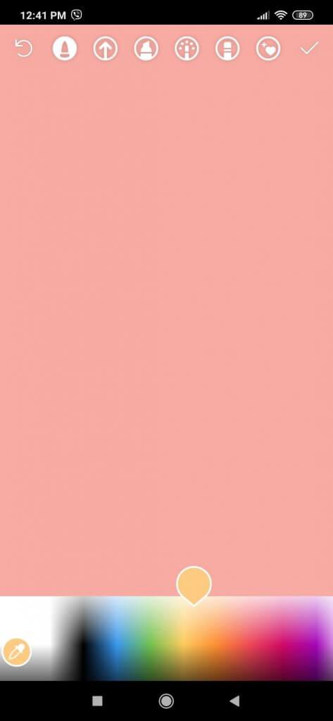 Uputstvo kako izgleda odabir boja na instagtram storiju